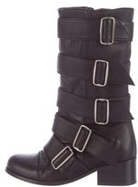 Thomas Wylde Buckle-Accented Leather Boots