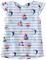 Toddler Girl Jumping Beans® Bow Back Patterned High-Low Slubbed Tee