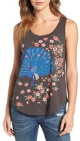 Lucky Brand Women's Embroidered Peacock Tank