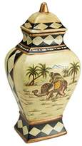 AA Importing 10416 Elephant Urn with Lid