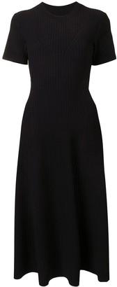 Proenza Schouler White Label Cut-Out Back Ribbed-Knit Midi Dress