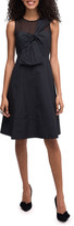 Kate Spade Bow Front Sleeveless Faille Dress