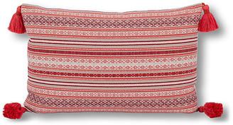 Kim Salmela Rex Stripe 16x24 Lumbar Pillow - Red
