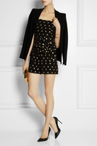 Kate Moss for Topshop Heart-embroidered crepe playsuit