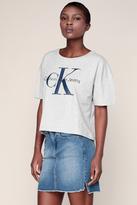 Calvin Klein Jupe Denim Bleu Délavé F