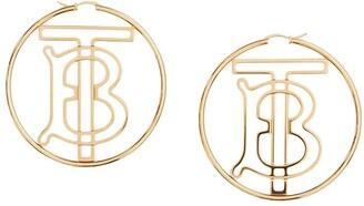 Burberry Monogram Motif Hoop Earrings