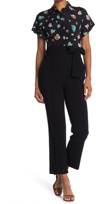 Diane von Furstenberg Yvonne High Waist Bow Belt Pants