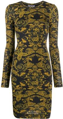 Versace Baroque-Print Midi Dress