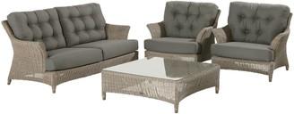 4 Seasons Outdoor Valentine Low Back 4 Seater Garden Lounge Set
