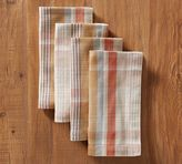 Pottery Barn Pumpkin Plaid Napkin, Set of 4
