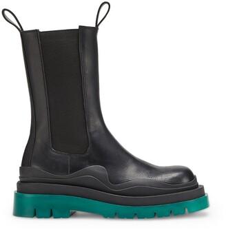Bottega Veneta Leather Tire Chelsea Boots 55