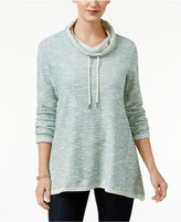 Style&Co. Style & Co Petite Marled Funnel-Neck Sweatshirt, Only at Macy's