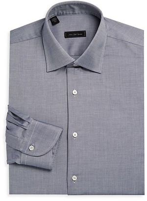 Saks Fifth Avenue COLLECTON Diamond Print Dress Shirt