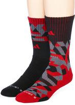 adidas Mens 2-pk. Camo Crew Socks