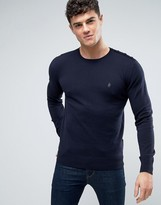 French Connection Crew Neck Button Shoulder Knitted Sweater