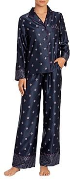Jonquil Satin Wide-Cuff Long Pajama Set