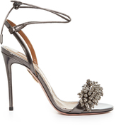 Aquazzura Monaco bead-embellished leather sandals