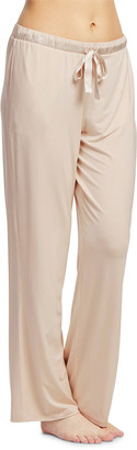 Fleurt Satin-Trim Modern Lounge Pants