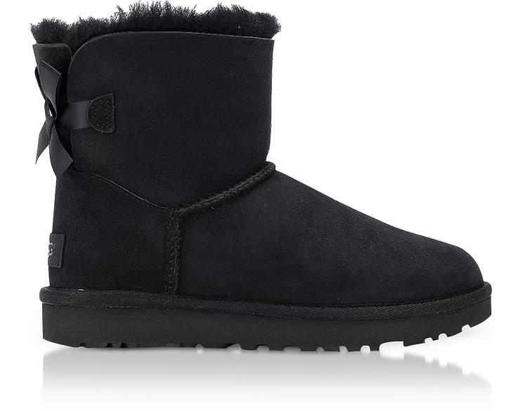 UGG Black Mini Bailey Bow Boots