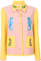 Vivetta seahorse embroidery fitted jacket