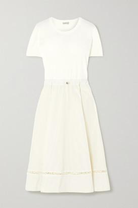 Moncler Laser-cut Jersey Dress - Off-white