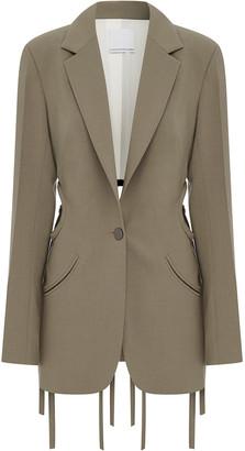 CHRISTOPHER ESBER Tie-Detailed Cutout Wool-Blend Blazer