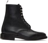 Thom Browne Black Four Bar High Derby Boots