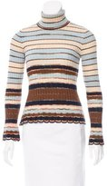 M Missoni Patterned Turtleneck Sweater