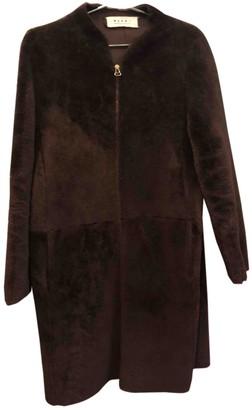 Marni Brown Shearling Coat for Women