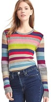 Gap Crazy stripe merino wool blend ribbed sweater