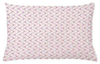 "East Urban Home Trellis Indoor / Outdoor Geometric Lumbar Pillow Cover Size: 16"" x 26"""