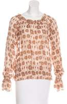 Rachel Zoe Leopard Print Off-The-Shoulder Top