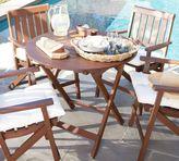 Pottery Barn Chatham Round Folding Bistro Table - Dark Honey