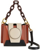 Yuzefi Daria Colorblock Leather Satchel
