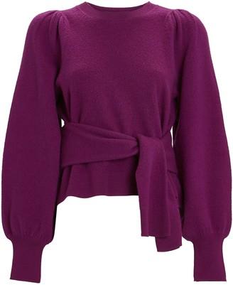 Ulla Johnson Rubi Boiled Wool Tie-Waist Sweater