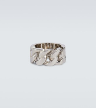 Alexander McQueen Metal chain ring