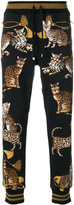 Dolce & Gabbana cat print track pants