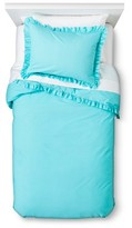 Nobrand No Brand Ruffle Edge Duvet Set - Turquoise (Full-Queen)