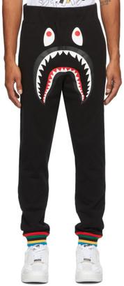 BAPE Black Rib Shark Line Lounge Pants