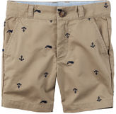 Carter's Schiffli Embroidered Anchors Twill Shorts