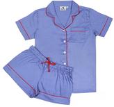 Malabar Bay Denim & Red Organic Cotton Sateen Short Pajama Set