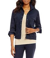 Pendleton Snap Front Mock Neck Long Sleeve Hipster Jacket