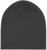 Johnstons Ladies Black Luxury Reversible Jersey Cashmere Beanie