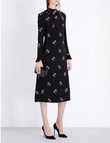 Vilshenko Livia floral-print crepe dress