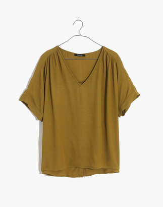 Madewell Drapey V-Neck Button-Back Top