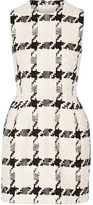 Alexander McQueen Houndstooth Tweed Mini Dress - Ivory