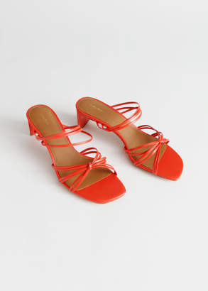 And other stories Strappy Knotted Heeled Sandals