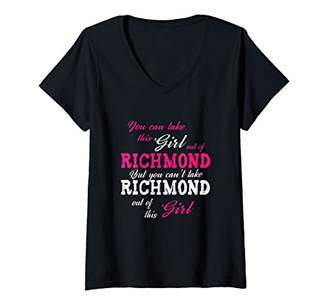 Richmond Womens Take This Girl Out Of Virginia VI State Funny V-Neck T-Shirt