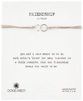 Dogeared Friendship Double Linked Rings Silk Bracelet