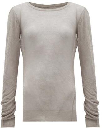 Maison Margiela Fine-knit Cotton Sweater - Light Grey